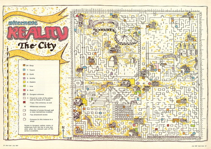 alternate reality the city map atari 800